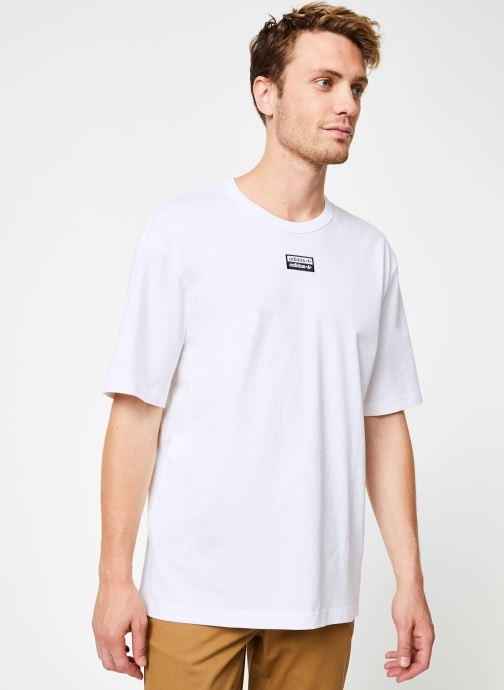 Vêtements adidas originals R.Y.V. Tee Blanc vue droite
