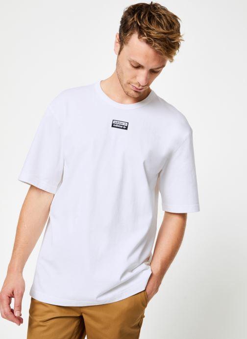 Vêtements adidas originals R.Y.V. Tee Blanc vue détail/paire