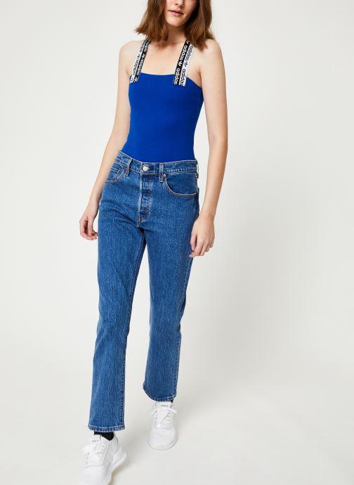 Vêtements adidas originals Body Bleu vue bas / vue portée sac