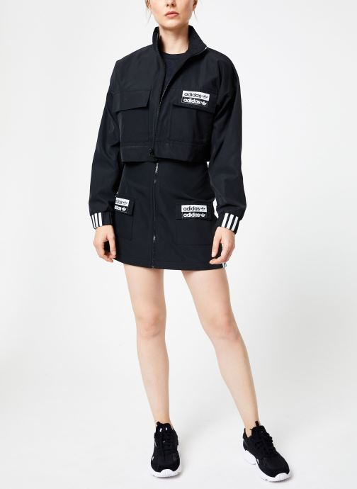 Vêtements adidas originals Skirt Noir vue bas / vue portée sac