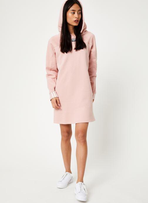 Tøj adidas originals Hooded Dress Pink se forneden