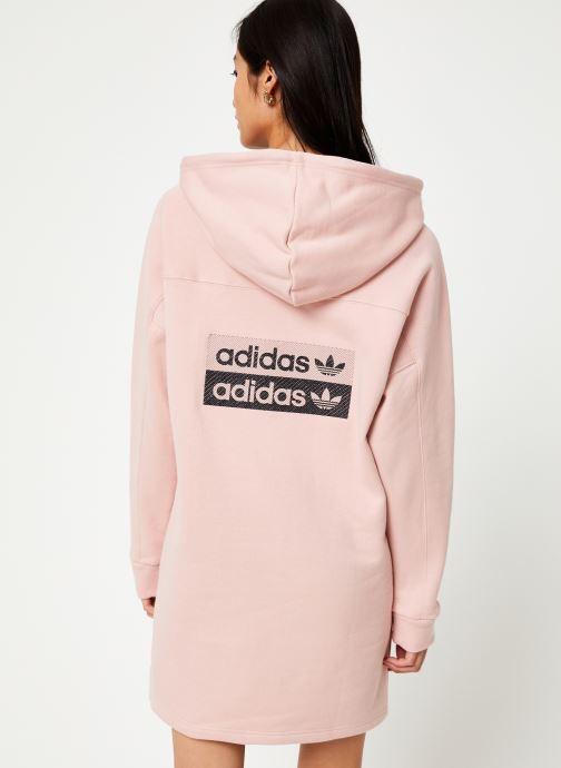 Tøj adidas originals Hooded Dress Pink se skoene på