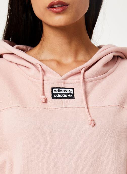 Tøj adidas originals Hooded Dress Pink se forfra