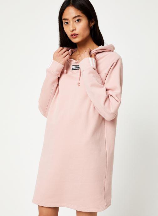 Tøj adidas originals Hooded Dress Pink Se fra højre