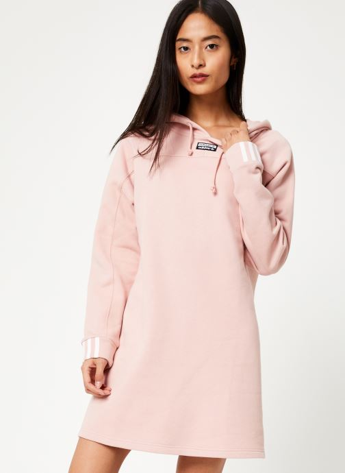 Kleding adidas originals Hooded Dress Roze detail