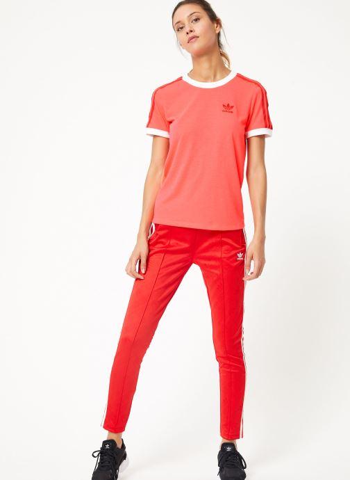Vêtements adidas originals Ss Tp Rouge vue bas / vue portée sac
