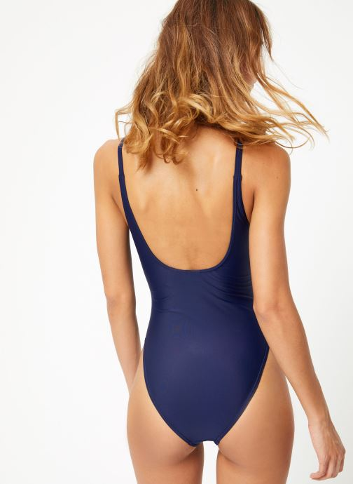 Kleding adidas originals Trefoil Swim Blauw model