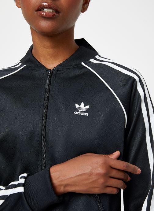Kleding adidas originals Ss Tt Zwart voorkant