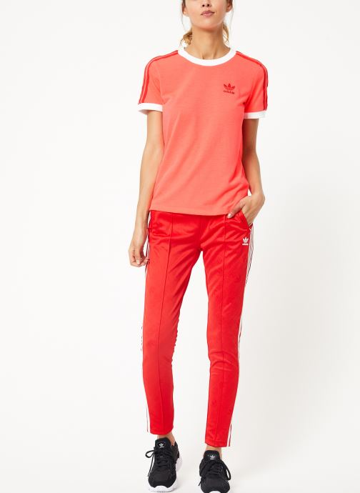 Vêtements adidas originals 3 Str Tee Rose vue bas / vue portée sac