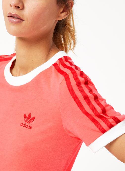 Kleding adidas originals 3 Str Tee Roze voorkant