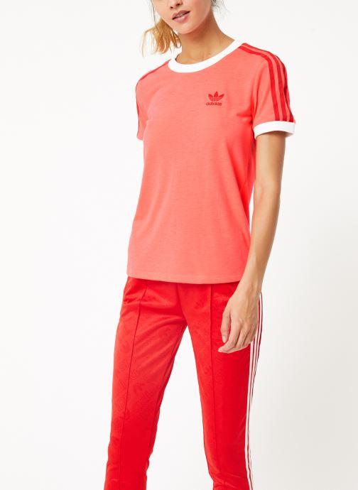 Vêtements adidas originals 3 Str Tee Rose vue droite