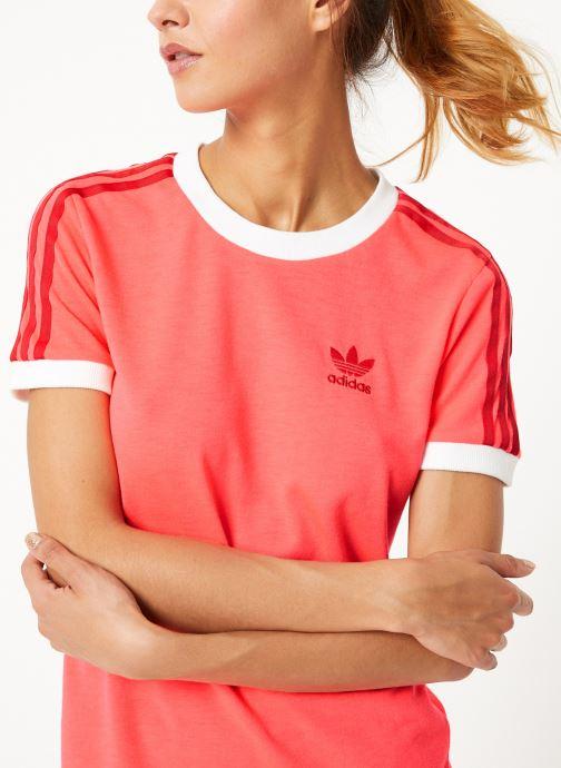 Vêtements adidas originals 3 Str Tee Rose vue détail/paire