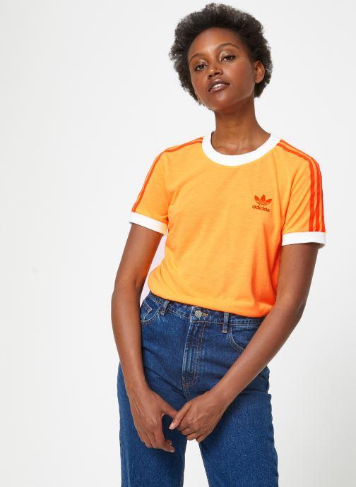 Vêtements adidas originals 3 Str Tee Violet vue détail/paire