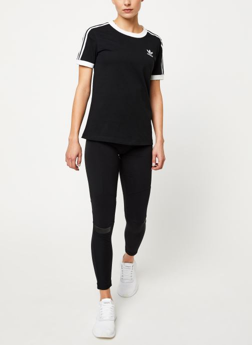 Vêtements adidas originals 3 Str Tee Noir vue bas / vue portée sac