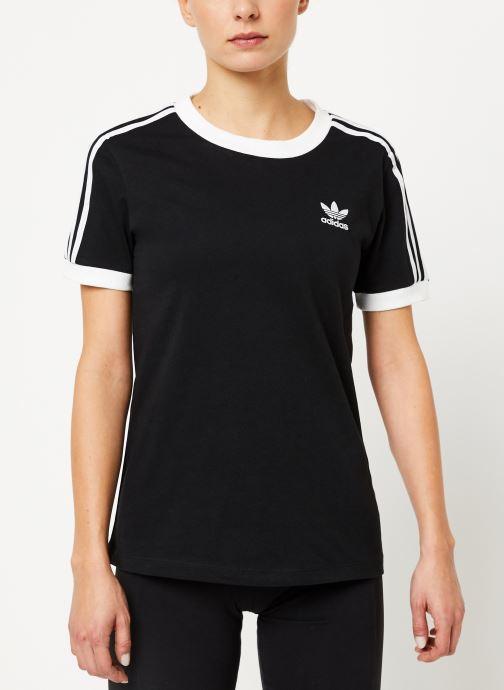 Vêtements adidas originals 3 Str Tee Noir vue détail/paire