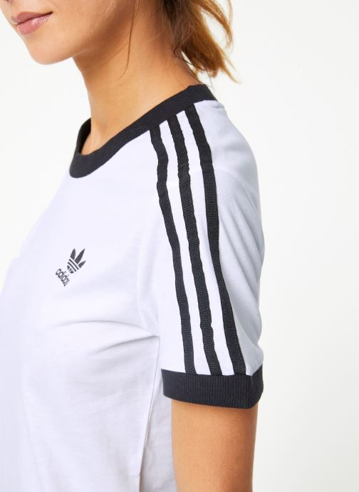 Vêtements adidas originals 3 Str Tee Blanc vue face