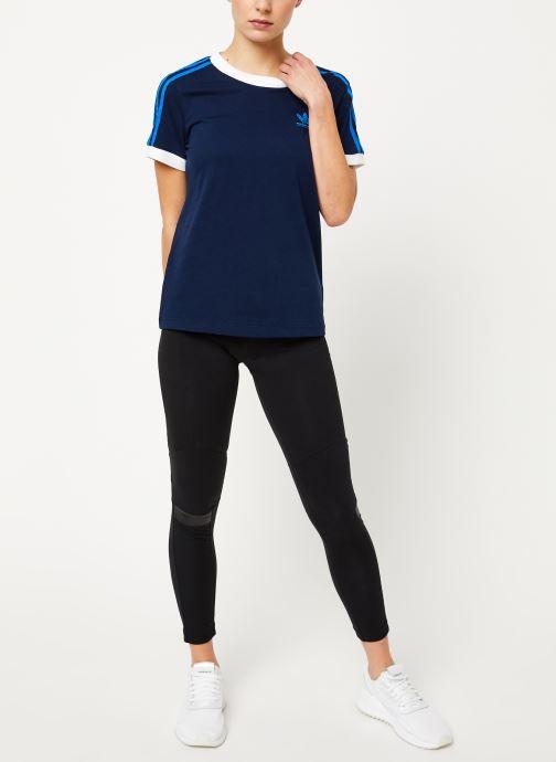 Vêtements adidas originals 3 Str Tee Bleu vue bas / vue portée sac
