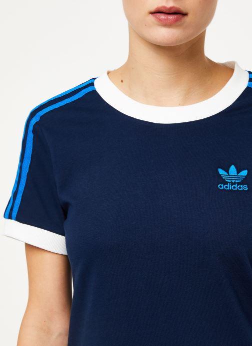 Vêtements adidas originals 3 Str Tee Bleu vue face