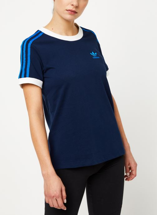 Vêtements adidas originals 3 Str Tee Bleu vue détail/paire