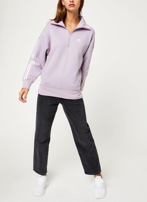 Vêtements adidas originals Lock Up Sweat Rose vue bas / vue portée sac