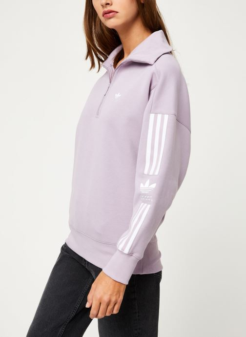 Vêtements adidas originals Lock Up Sweat Rose vue droite