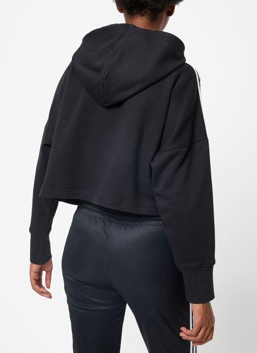 Vêtements adidas originals Cropped Hood Noir vue portées chaussures
