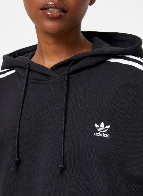 Kleding adidas originals Cropped Hood Zwart voorkant