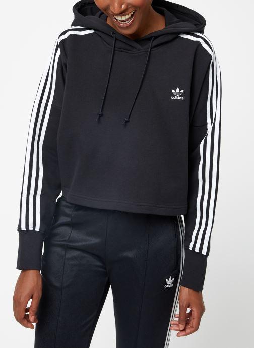 Vêtements adidas originals Cropped Hood Noir vue droite
