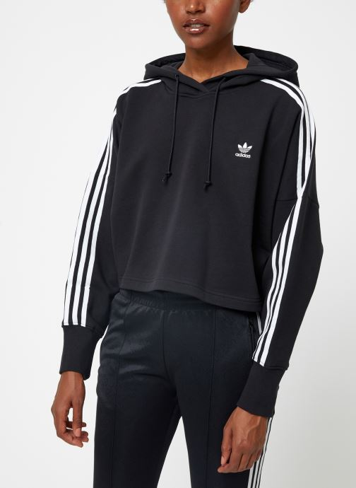 Vêtements adidas originals Cropped Hood Noir vue détail/paire