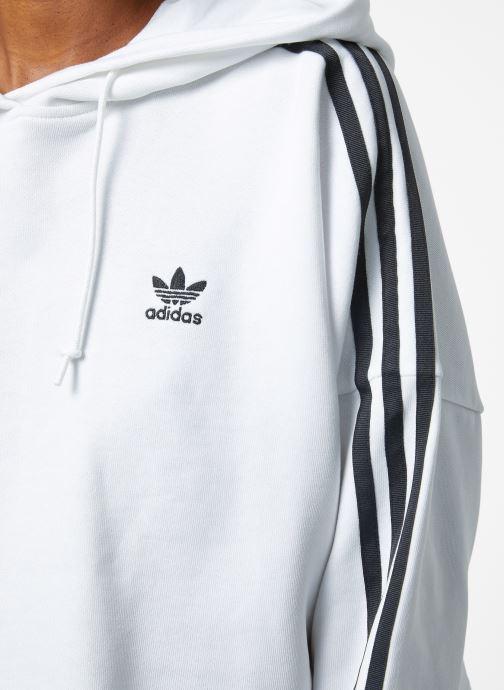 Kleding adidas originals Cropped Hood Wit voorkant