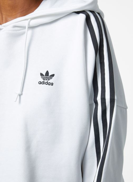 Vêtements adidas originals Cropped Hood Blanc vue face