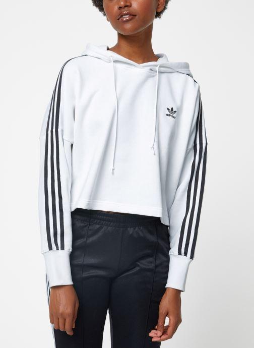 Vêtements adidas originals Cropped Hood Blanc vue droite