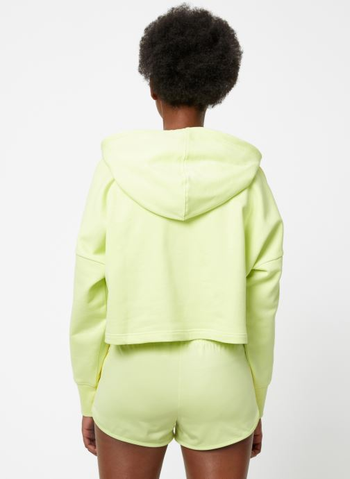 Kleding adidas originals Cropped Hood Geel model