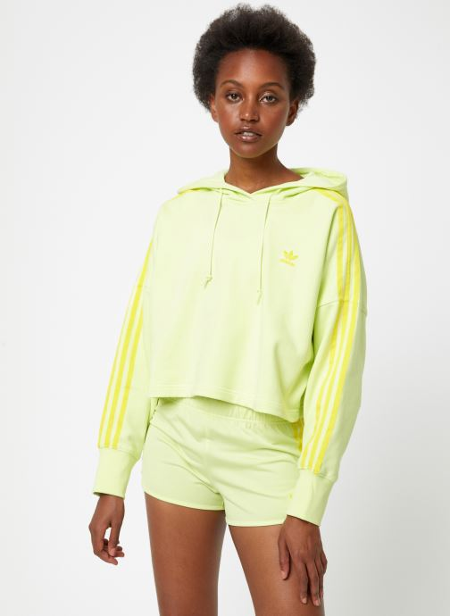 Vêtements adidas originals Cropped Hood Jaune vue droite