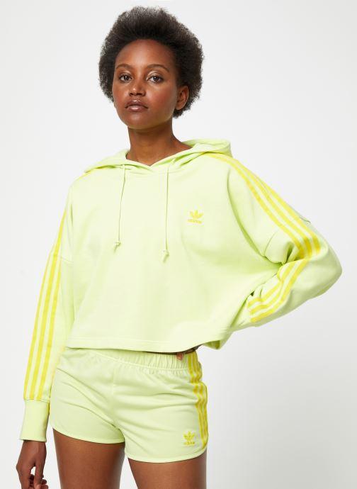 Vêtements adidas originals Cropped Hood Jaune vue détail/paire