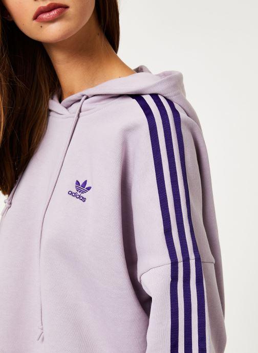 Vêtements adidas originals Cropped Hood Violet vue face