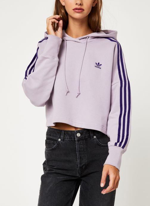 Vêtements adidas originals Cropped Hood Violet vue droite