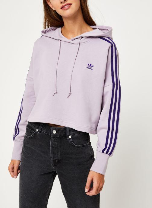 Vêtements adidas originals Cropped Hood Violet vue détail/paire