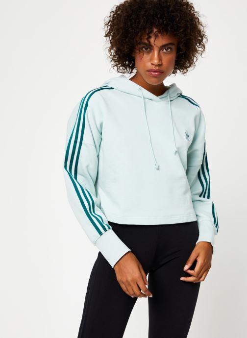 Vêtements adidas originals Cropped Hood Vert vue détail/paire