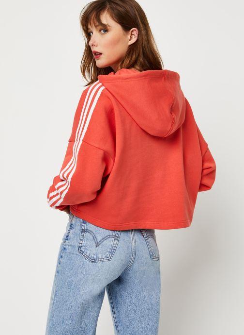 Vêtements adidas originals Cropped Hood Orange vue portées chaussures