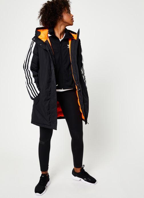 Vêtements adidas originals Long Syn Down Noir vue bas / vue portée sac