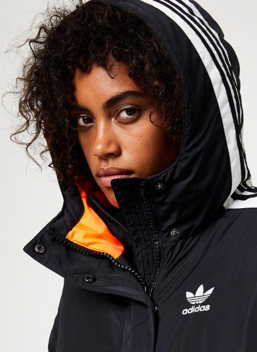 Vêtements adidas originals Long Syn Down Noir vue face