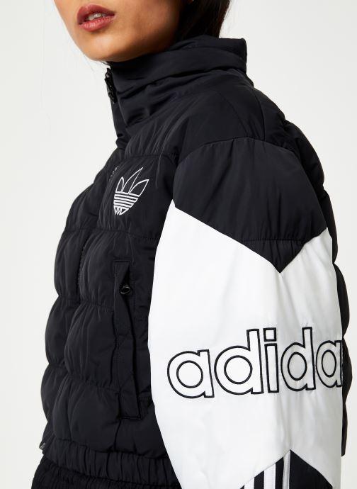 Kleding adidas originals Cropped Puffer Zwart voorkant