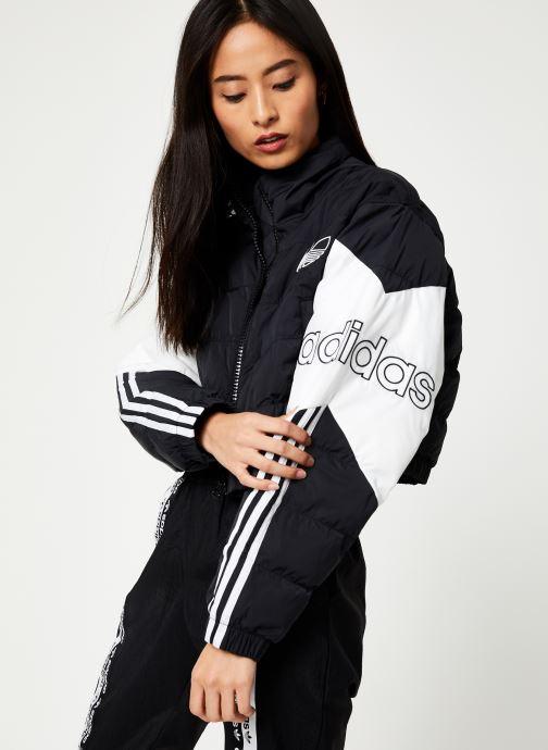 Vêtements adidas originals Cropped Puffer Noir vue droite