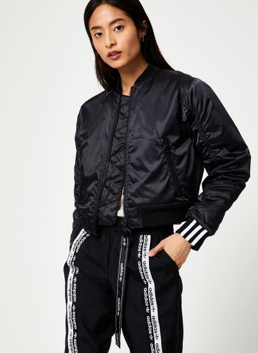 Vêtements adidas originals Cropped Bomber Noir vue droite