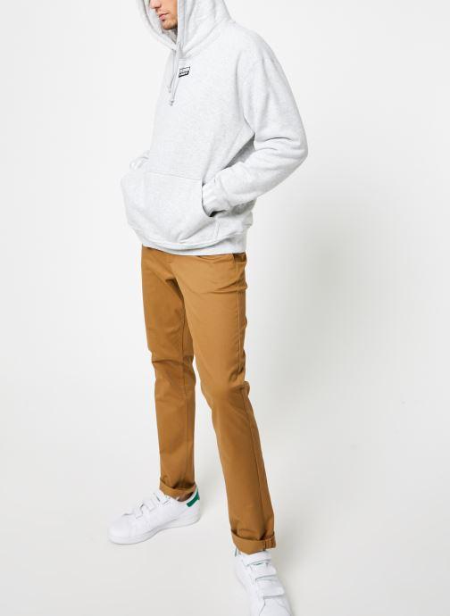 Vêtements adidas originals R.Y.V.Hoody Blanc vue bas / vue portée sac