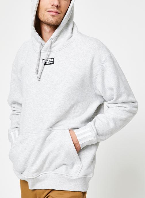 Vêtements adidas originals R.Y.V.Hoody Blanc vue détail/paire