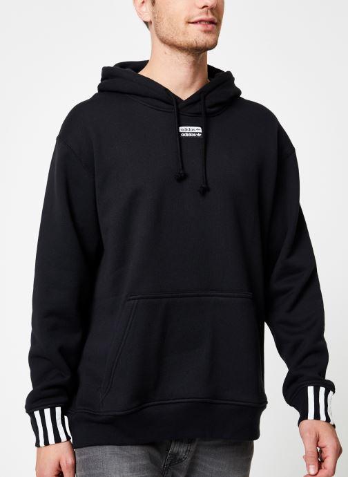 Vêtements adidas originals R.Y.V.Hoody Noir vue détail/paire