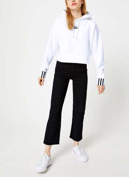 Tøj adidas originals Crop Hood Hvid se forneden