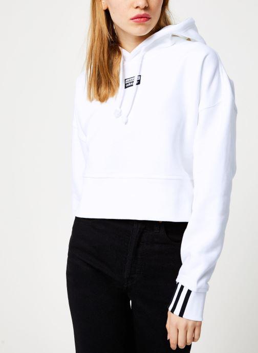 Tøj adidas originals Crop Hood Hvid Se fra højre